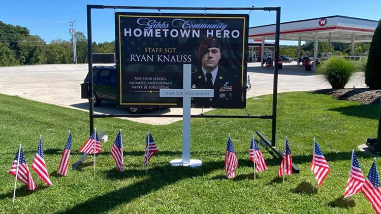 Small memorial for fallen servicemember from East Tennessee created, everyone welcome to visit