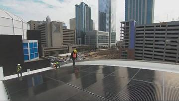 Carolina Panthers Install Solar Panels at Bank of America Stadium