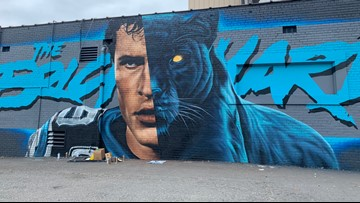 New Luke Kuechly mural attracting attention in Charlotte