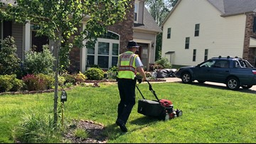 Concord Firefighters Help Mow Woman's Lawn After Watching Her Struggle