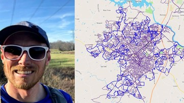 This man just ran every street in Rock Hill, all 1,300 of them
