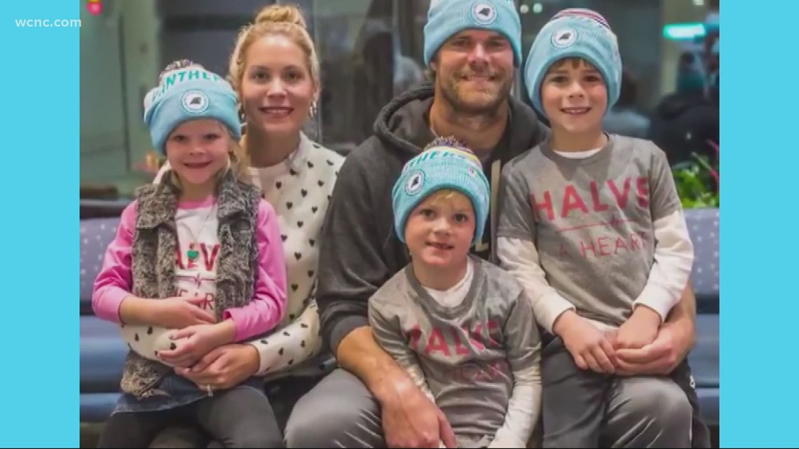Greg Olsen shares video of son TJ sharing transplant news with siblings
