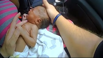 WATCH: SC deputy saves newborn's life after pulling mom over for speeding