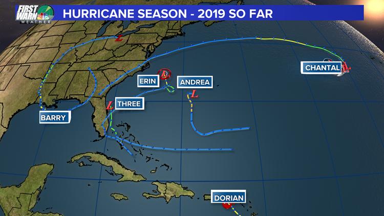 2019 hurricane season map