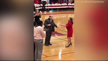 Student with Autism Busts a Move after Being Crowned Homecoming King at Charlotte High School