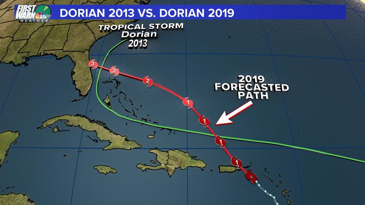 Dorian plot map