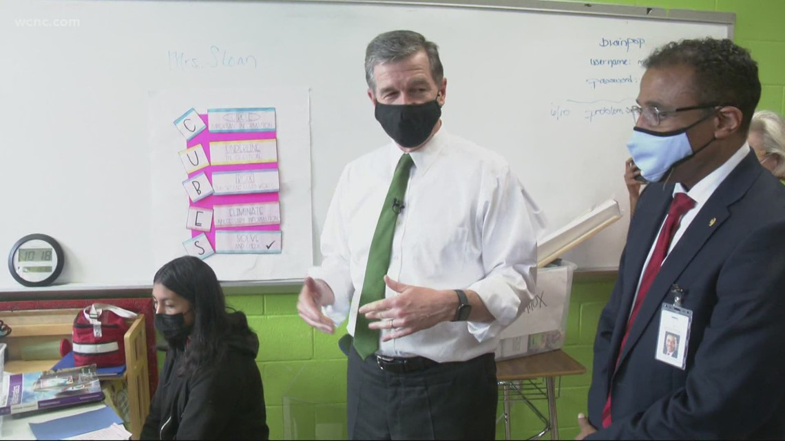 'I have to give it 110% every day' | Gov. Cooper meets Salisbury teacher who used TikTok to keep students engaged during remote learning