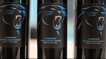 Cheers to 25 seasons! Now you can sip Carolina Panthers wine