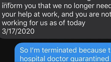 NC woman believes she was fired because she's quarantined with presumed COVID-19