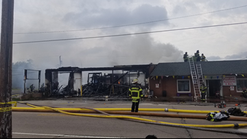 Multiple businesses damaged by 4-alarm fire in downtown Kannapolis
