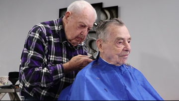 'I'll have to quit someday, but not today' | 92-year-old NC barber has been cutting hair for more than 73 years