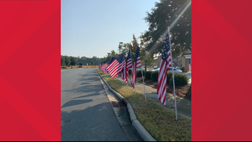 American flag on loan stolen from outside NC funeral home