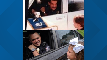 Police Officer Recreates First Day of School Picture With His Daughter