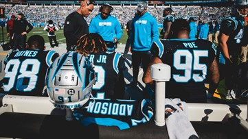 'We got this win for him' | Panthers place Mario Addison's jersey on bench following brother's death