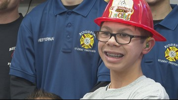Fire Dept. gives boy with special needs surprise 13th birthday party!