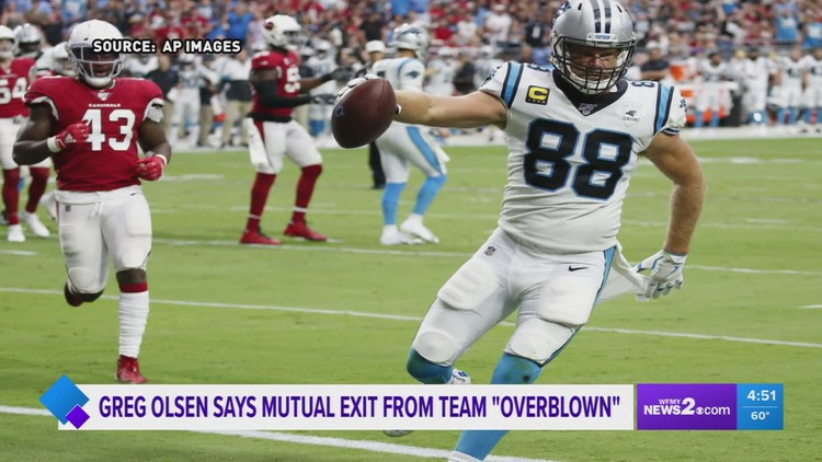 WFMY talks Olsen's perspective leaving the Carolina Panthers