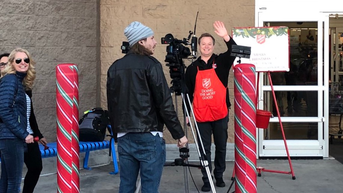 Chad Rang The Bell At Walmart On Battleground Avenue In Greensboro
