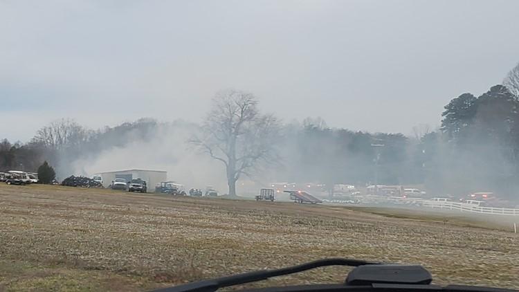 Fire off Highway 158