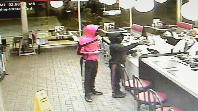 Burlington Waffle House robbed by two men, woman with guns: Police