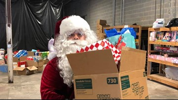 Greensboro Police Department hands out gifts to families