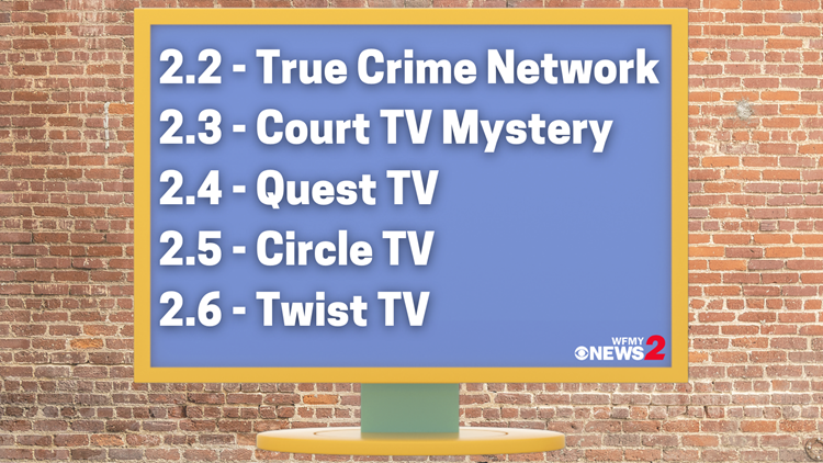 More 2 Watch! Here's what's on those 5 subchannels under WFMY News 2