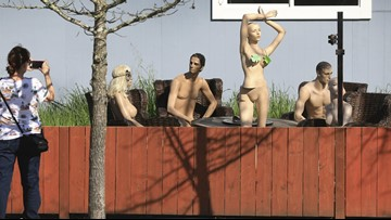 Man Claps Back at 'Nosey' Neighbor By Setting Up Nude Mannequin Party Scene