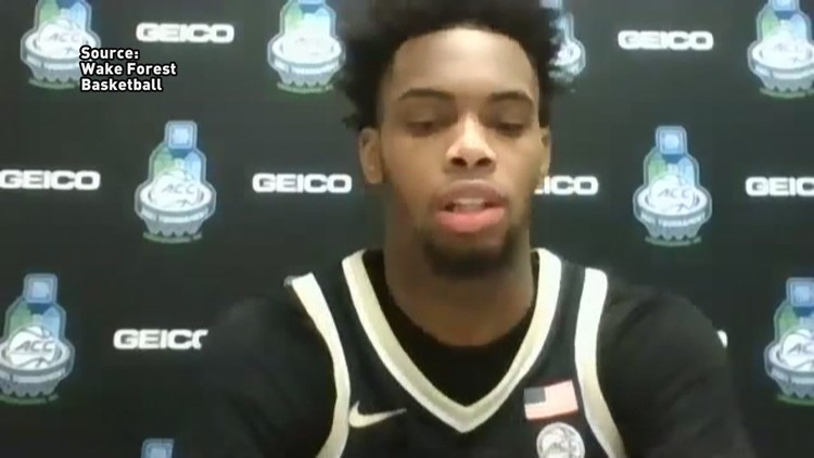 Postgame Interview with Wake Forest's Isaiah Mucius after ACC Tournament loss to Notre Dame