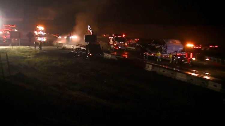 I-40 west crash