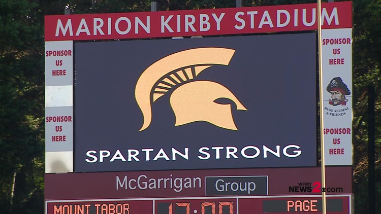 Page High shows support for Mount Tabor during fist football game since deadly school shooting