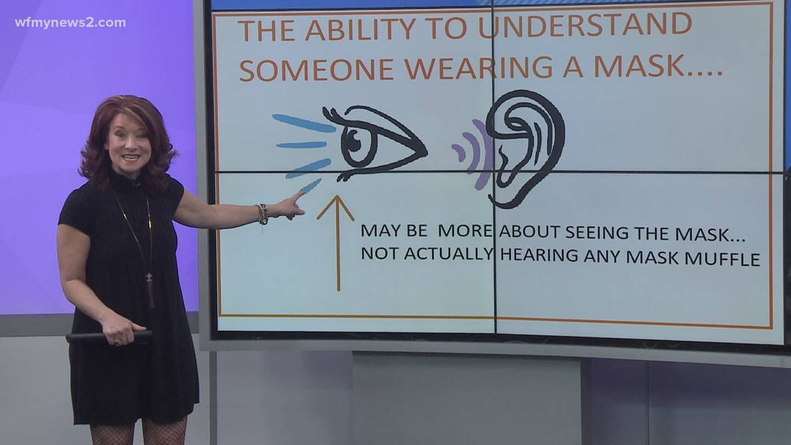 Is it actually harder to hear what someone's saying if they're wearing a mask?