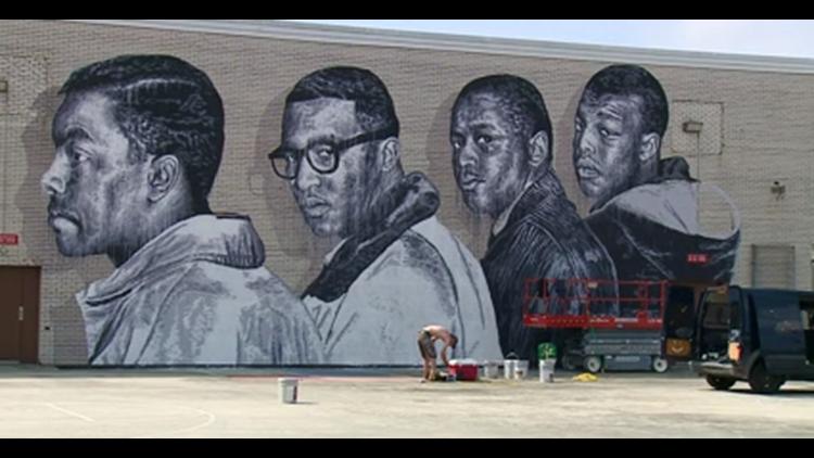 Greensboro Four Mural