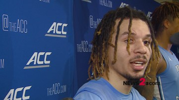 'It feels good but we are not done yet':  UNC's Cole Anthony talking after the Tar Heels win over Virginia Tech