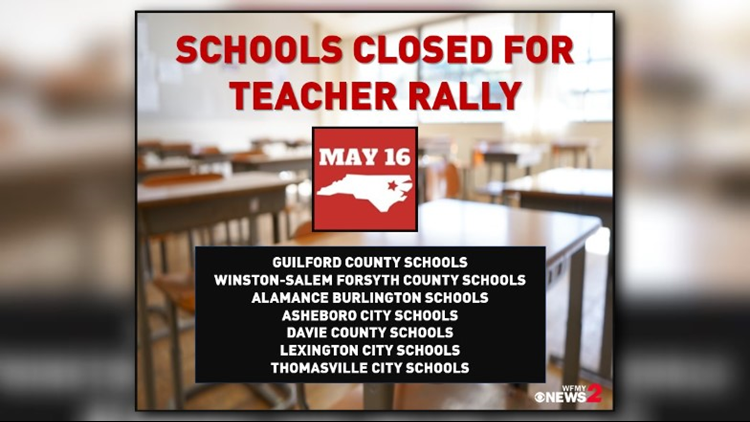 School Districts closed for Teacher Rally