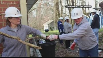 Winston-Salem Volunteers Mend Local Veteran's Home