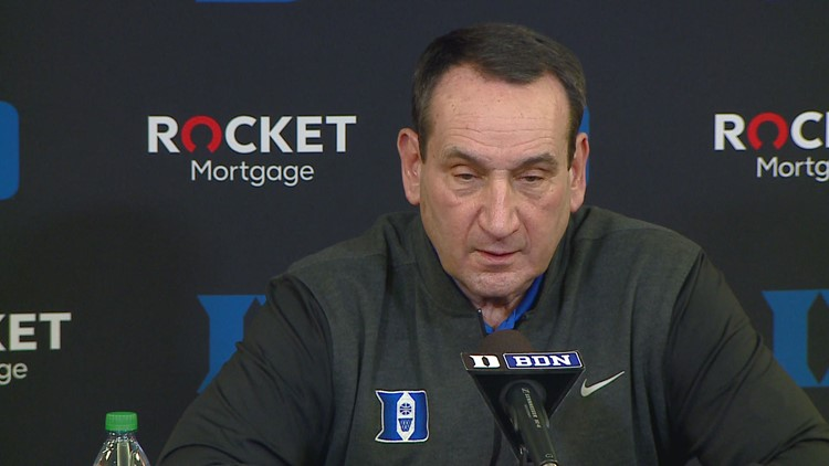 Interview With Duke Head Coach Mike Krzyzewski Ahead Of Wednesday's Game vs. UNC