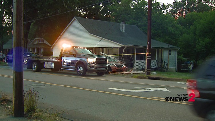 RAW: Car crashes into house in Winston-Salem
