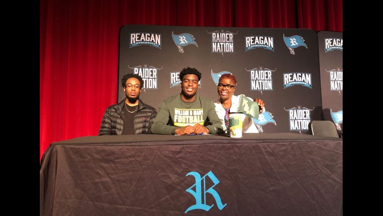 Reagan's Jonathan Egwuatu signs with William & Mary