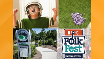NC Folk Festival, Flag Football, Cheerleaders, and the Greenway All Have One Special Need You Can Provide--Your Time