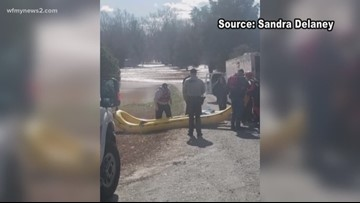 Emergency Rescues on the Dan River and water levels continue to rise