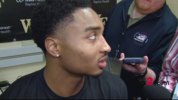 'I was going to do anything to win this game tonight': WFU's Brandon Childress with double-double in win over UNC