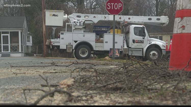 Duke energy working to restore power in the Triad