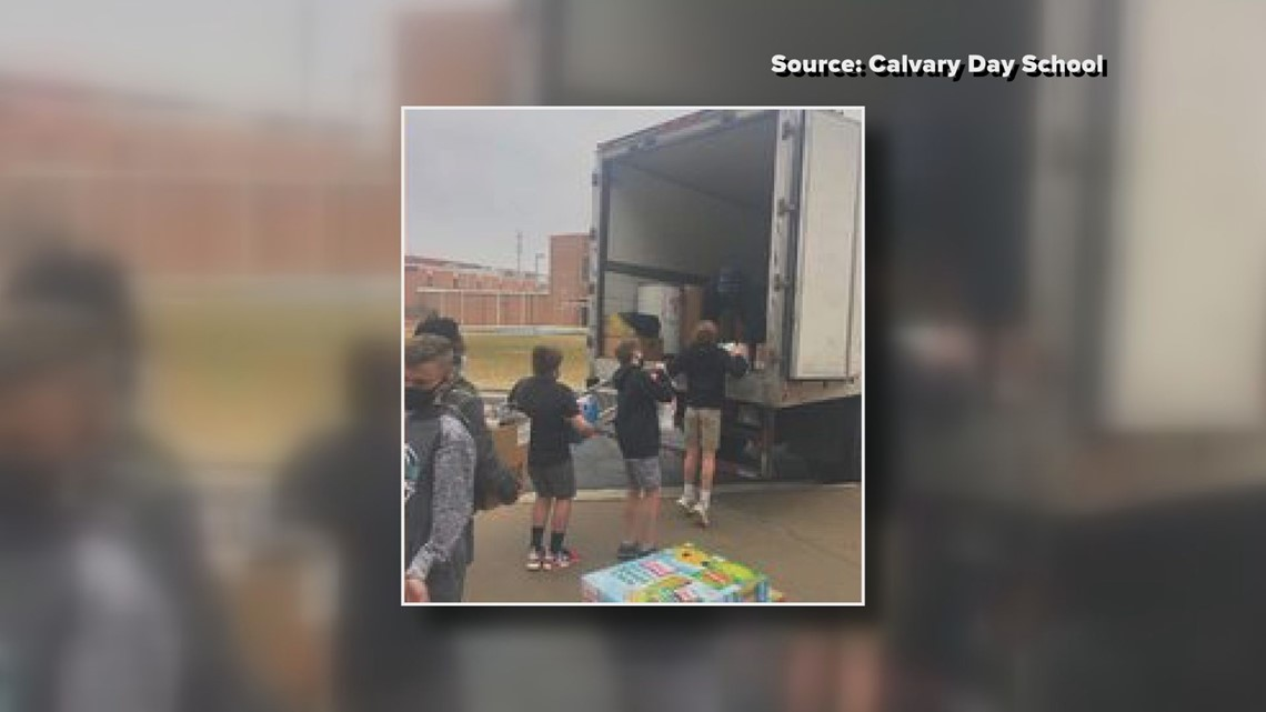 Calvary Day School looks to help people struggling during the pandemic