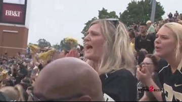 Behind-the-Scenes: Parents watch their sons face on at UNC - Wake game