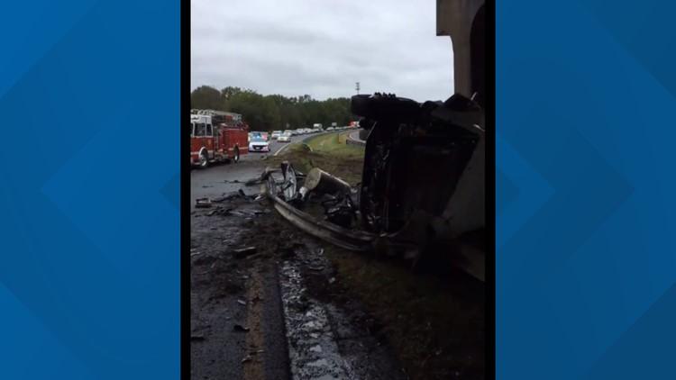 Tractor-Trailer Crash Blocks Lanes on US 52 North in Winston-Salem