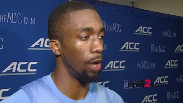 'It feels really good, I get to put this jersey on one more time':  UNC's Brandon Robinson talking win over Virginia Tech