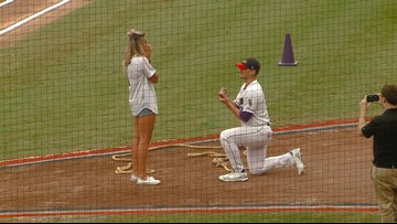 He Put a Ring On It! Winston-Salem Dash Pitcher Proposes