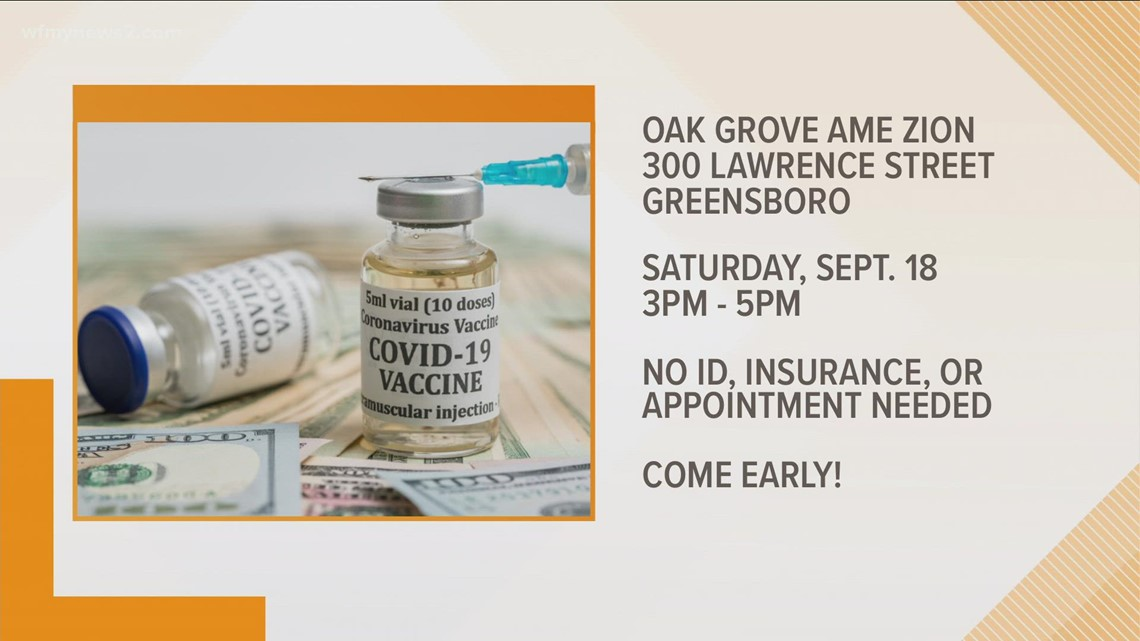 Greensboro church offers COVID test and vaccine incentives