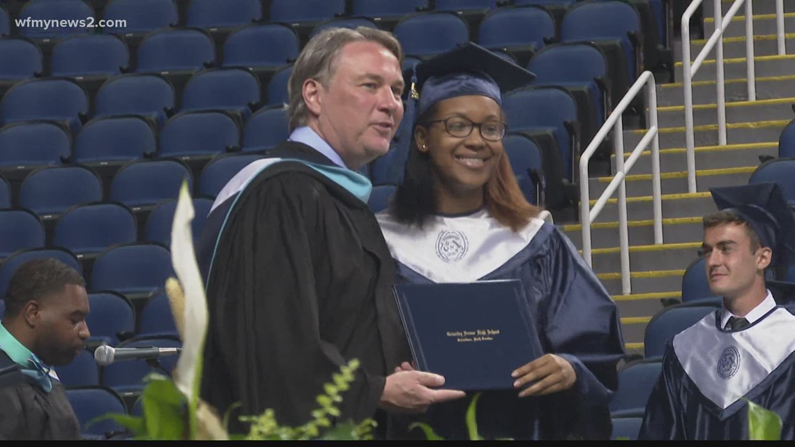 Grimsley High School student graduates with perfect attendance