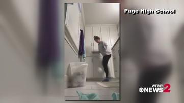 Page women's soccer team kicks around toilet paper roll