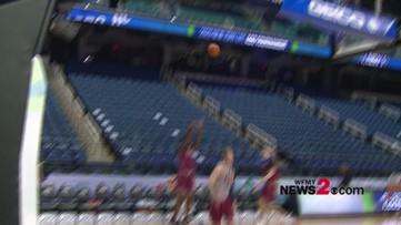 West Charlotte alum & FSU Freshman Patrick Williams on the court practicing ahead of ACC Men's Tournament opener